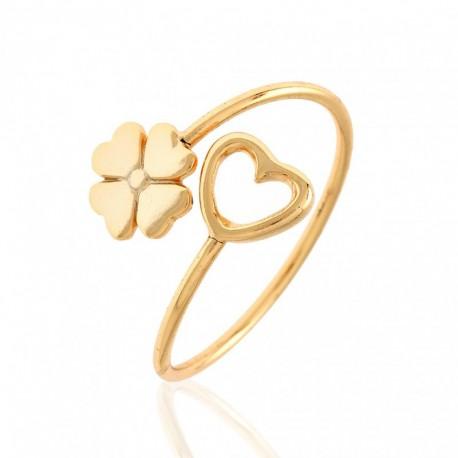 Anillo Amor y Suerte Oro