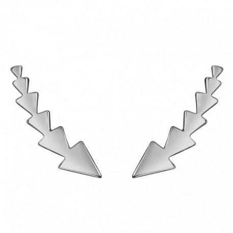 Pendientes Trepadores Triángulos Plata