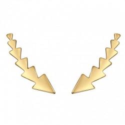 Pendientes Trepadores Triángulos Oro