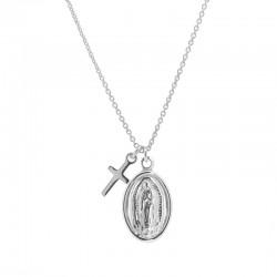 Colgante Virgencita con Cruz